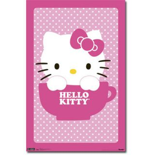 Hello Kitty Tea Cup (Poster)