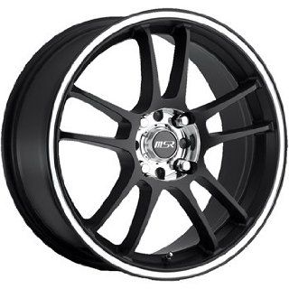 MSR 43 17 Black Wheel / Rim 4x100 & 4x4.5 with a 35mm Offset and a 72.64 Hub Bore. Partnumber 4388701 Automotive