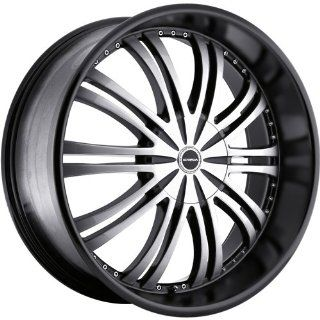Strada Venti 24 Black Wheel / Rim 5x4.5 & 5x120 with a 40mm Offset and a 72.6 Hub Bore. Partnumber S10450140BM Automotive