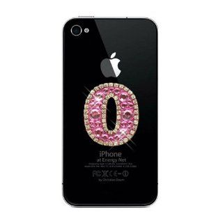 ZuGadgets Pink Numbers 0 9 Diamante Rhinestone Crystal Stickers for Apple iPhone4 ,4S / iPad2 3 / iPod Number 0 (7328 1) Cell Phones & Accessories