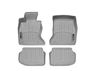 2011 2013 BMW 5 Series (F10/F11) Grey WeatherTech Floor Liner (Full Set) [All Wheel Drive; Automatic Transmission] Automotive