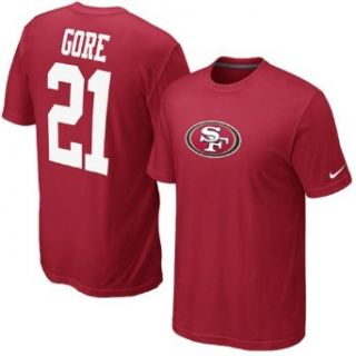 Nike Men's NFL San Francisco 49ers (Frank Gore) Name And Number Shirt Size Large Clothing