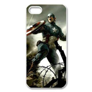 Custom Captain America Cover Case for iphone 5/5s WIP 1404 Cell Phones & Accessories