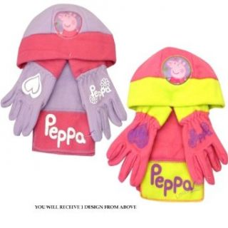 Peppa Pig Character Assorted Kids Hat Gloves and Scarf Winter Set Clothing