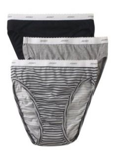 Jockey Women's Underwear Classic French Cut   3 Pack, simple stripe, 5 Hipster Panties