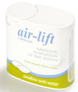 Air Lift CAPSULES Immediate Elimination Of Bad Breath 40 Capsules Health & Personal Care