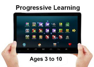 "'KID GAMER'   ***NOW WITH MORE STORIES, GAMES AND A CARRYING CASE AND STAND  *10"" Touchscreen Educational Tablet for Pre Schoolers and Beyond   Ages 3 to 10 Years. *Pre Loaded with Hand Picked Educational Games and Books for Cognitive Develo"