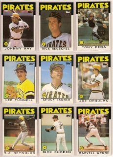 Pittsburgh Pirates 1986 Topps Baseball Team Set (AND RECEIVE A FREE DAVE PARKER 1982 TOPPS CARD) (Chuck Tanner) (Joe Orsulak) (Lee Tunnell) (Rick Rhoden) (Tony Pena) (Steve Kemp) (RJ Reynolds) (Marvell Wynne) (Jim Morrison) (Lee Mazzilli) (Sid Bream) (Rick
