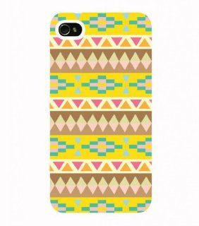 Wewe Aztec Pine Apple Iphone 4 4s Case Cover, Cell Phone Hard Case with Unique Design Cell Phones & Accessories