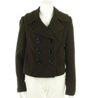 INC International Concepts Double Breast Jacket Coffee Bean M Wool Outerwear Coats