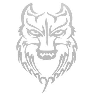 Brand New Reflective silver Wolf Face Badge Tape Sticker Cool For Car Motorcycle Automotive