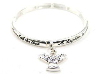 "Angel Daughters Blessing Angel Heart Charm Bracelet in a Gift Box with Bookmark by Jewelry Nexus "" A Daughter is a special gift, a blessing from above; the joy & friendship never end & least of all the love"" Jewelry Nexus Jewelry"