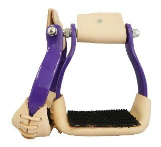 Aluminum Barrel Racing Stirrups Purple  Horse Stirrups  Sports & Outdoors