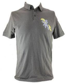 My Little Pony Friendship is Magic Mens Slim Fit Polo  Derpy Image on Gray Clothing