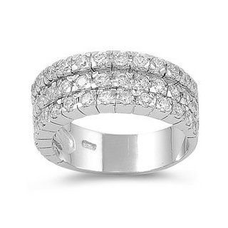 925 Sterling Silver Eternity Ring with CZ Stones Right Hand Rings Jewelry