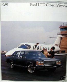 1985 Ford LTD Crown Victoria vehicle brochure