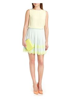 Ted Baker Bluma pleated lace skirt Green