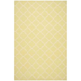 Safavieh Hand woven Moroccan Dhurrie Light Green/ Ivory Wool Rug (8 X 10)
