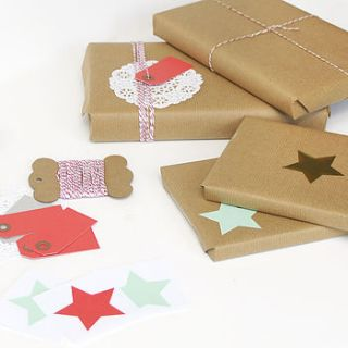 christmas gift wrap kit by peach blossom