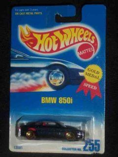 #255 BMW 850i Metal Flake Dark Blue Lace/Gold Wheels Collectible Collector Car Mattel Hot Wheels Toys & Games