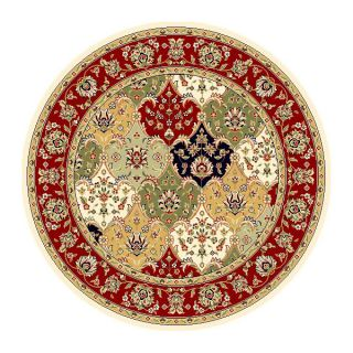 Lyndhurst Collection Multicolor/red Area Rug (8 Round)