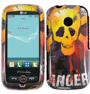 Danger Hard Case Cover for LG Beacon MN270 Attune UN270 Cell Phones & Accessories
