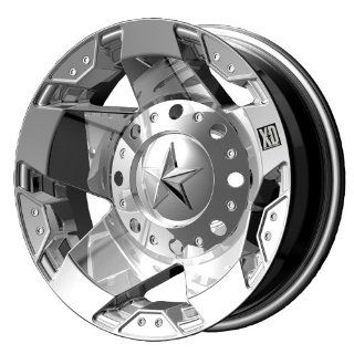 "KMC Wheels XD Series Rockstar Dually XD775 Chrome Rear Wheel (17x6""/8x200mm) Automotive"