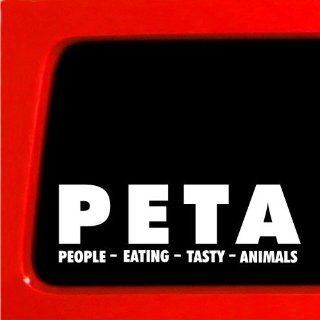 PETA People Eating Tasty Animals funny decal sticker car BUMPER vegetarian Automotive