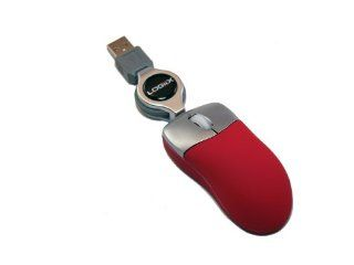 Logiix Mini USB LED Mouse Red Electronics