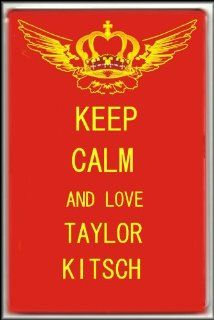 KEEP CALM ADN LOVE TAYLOR KITSCH FRIDGE MAGNET   Refrigerator Magnets