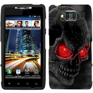 Motorola Droid Razr HD Red Eye Skull on Black Hard Case Phone Cover Cell Phones & Accessories