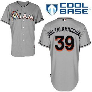 Jarred Saltalamacchia Miami Marlins Road Authentic Cool Base Jersey by Majestic  Sports Fan Jerseys  Sports & Outdoors