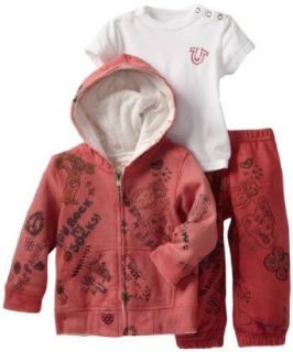 True Religion Baby Girls Infant 3 Piece Gift Box Set Clothing