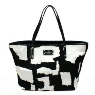 Kate Spade Small Coal Art Noir Black/Cement Tote Bag (Black/White) #PXRU3692 Shoulder Handbags Shoes