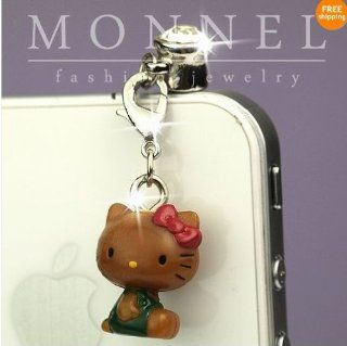 ip303 Luxury Hello Kitty 3D Charm Anti Dust Plug Cover For iPhone 4 4S Cell Phones & Accessories