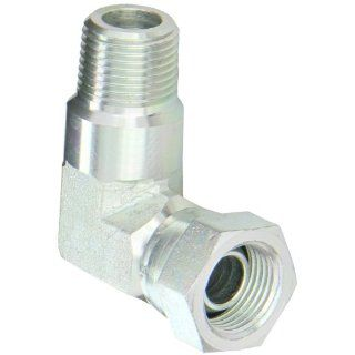 "Eaton Aeroquip 2047 6 6S Steel Pipe Fitting, 90 Degree Elbow, 3/8"" NPSM Female x 3/8"" NPT Male Industrial Pipe Fittings"