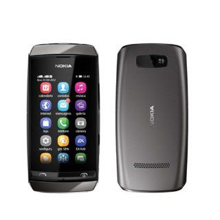 Nokia Asha 305 Gray Touchscreen Unlocked GSM Dual SIM DualBand Bar Cell Phone Cell Phones & Accessories