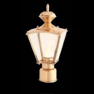 Post Lamps Brass Brass, Post Light Outdoor Light Only Brass 14 H x 6 1/2 W