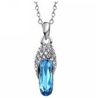 Made with Swarovski Elements Crystal Jewelry Fashion Pendant Necklaces for Women Statement Jewelry Rhinestone (AQUAMARINE) Other Products Jewelry