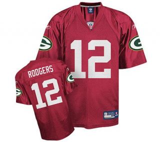 NFL Green Bay Packers Aaron Rodgers Red QB Practice Jersey —