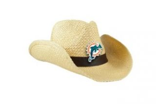 NFL Miami Dolphins Natural Cowboy Hat  Clothing