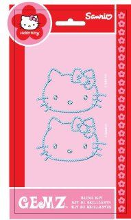 "Chroma Graphics 324 Gemz Silver 3"" x 5.25"" Hello Kitty Self Adhesive Decal Bling Kit Automotive"