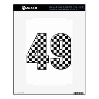 49 checkered number decal for the NOOK