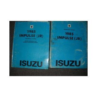 1985 Isuzu Impulse Service Repair Shop Manual Set OEM (service manual, and the electrical wiring diagrams manual and troubleshooting manual.) isuzu Books