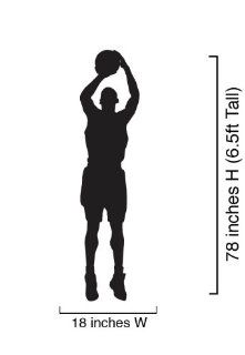 "Vinyl Wall Art Decal Sticker Basketball Player Shooting 18"" Wide x 78"" Tall (6.5ft) #339   Other Products"