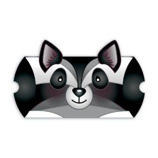 Jillson Roberts Animal Shaped Pillow Boxes, Black/White Raccoon, 6 Count (GCA006)  Printer And Copier Paper