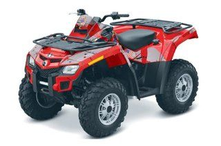 AMR Racing Can Am Outlander 800 EFI ATV Quad Graphic Kit  T Bomber Red Automotive