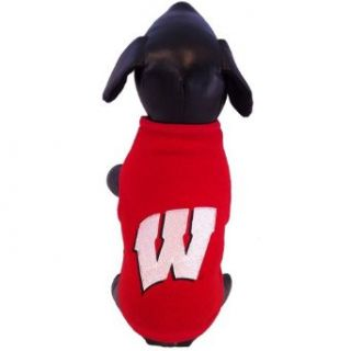 NCAA Wisconsin Badgers Collegiate Polar Fleece Dog Sweatshirt (XX Large)  Sports Fan Sweatshirts  Clothing