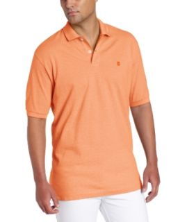 IZOD Men's Short Sleeve Solid Oxford Pique Polo Shirt at  Men�s Clothing store Polo Shirts