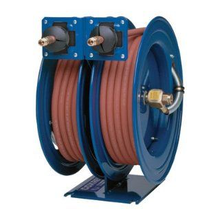 "Coxreels C LP 350 350 Dual Air Hose Reel, 3/8"" Hose ID, 50' Length Air Tool Hose Reels"